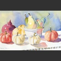 "Autumn Fruits and Vegetables - 10""x15"""