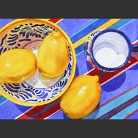 "Lemons in Mexican Bowls - 17""x21"""